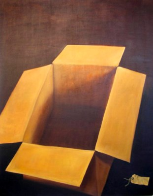 'ABSENT EVIDENCE' - OIL ON CANVAS