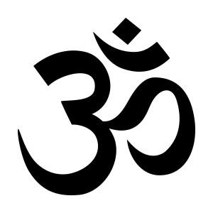 the Hindu Devanagari script for AUM