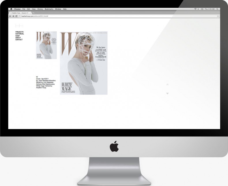 Heather Huey - Website Design - W Magazine - Steven Chu