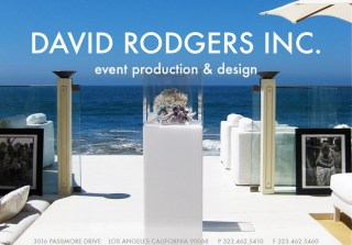David Rodgers Inc. – Event Production & Design – 3016 PASSMORE DRIVE LOS ANGELES CALIFORNIA 90068  P 323.462.5410 F 323.462.5460