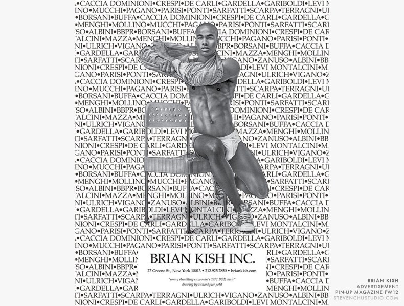 Brian Kish - Pin-Up Magazine Advertisement - Sonny