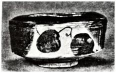 black Oribe teabowl