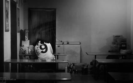 Girl sitting in Qufu