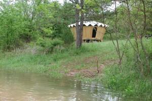 Elixir Farm Yurt, Brixey, Missouri. Bill Coperthwaite, Colin Foster, and Clear Spring School students, 2003.