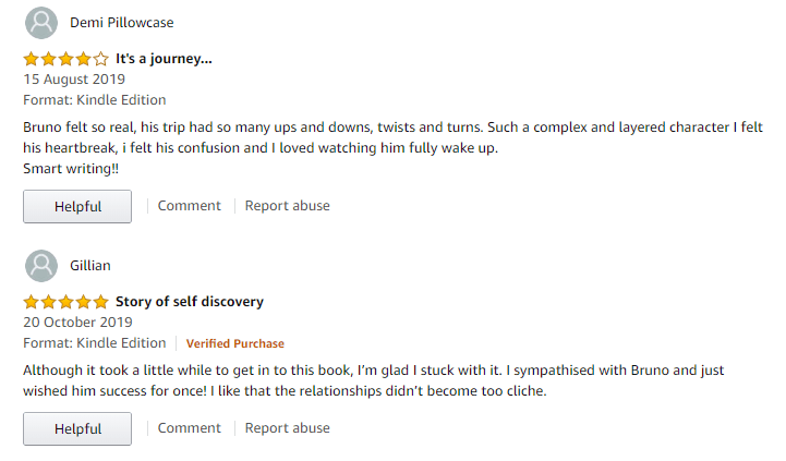 Snapshot of Amazon book reviews for Vagabundo
