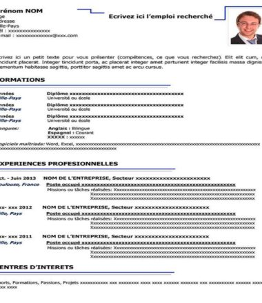 Templates Curriculum Vitae To Download For Free Steven Kendy Pierre