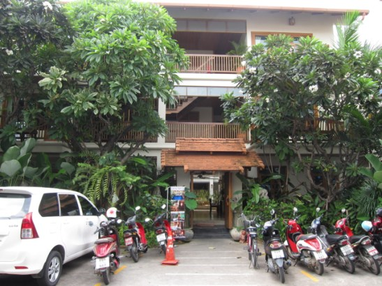 My lodging at the Vieng Mantra boutique hotel. The entrance located in an alley is nondescript...