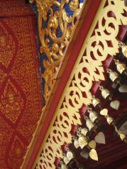 Beautiful details of the temple roof.