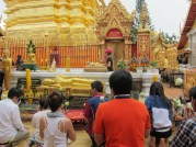 """Buddhist worshippers. Chiang Mai has over 300 temples. You can easily get """"templed out"""" if you try to visit too many of them."""