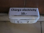 Can you believe they actually charge for electricity at a cafe? This is 30 cents....per hr., per plug, per person??