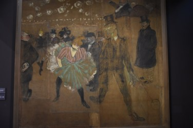 My wife and I's favorite artist here: Henri de Toulouse-Lautrec. This is a painting on chip board.