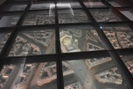 In the floor I noticed a scale model of Paris centered around the opera house. Impressive!