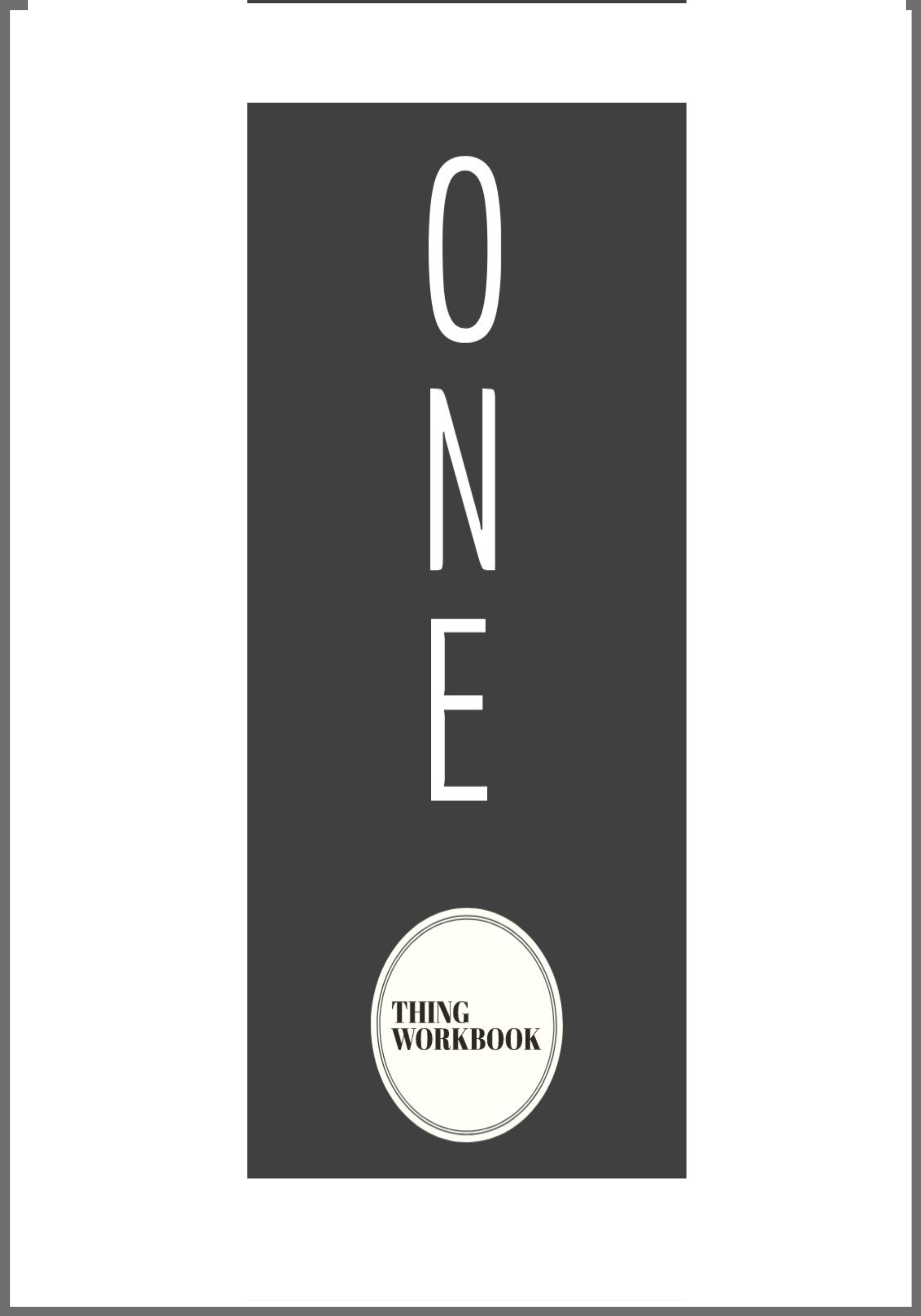 one thing workbook review