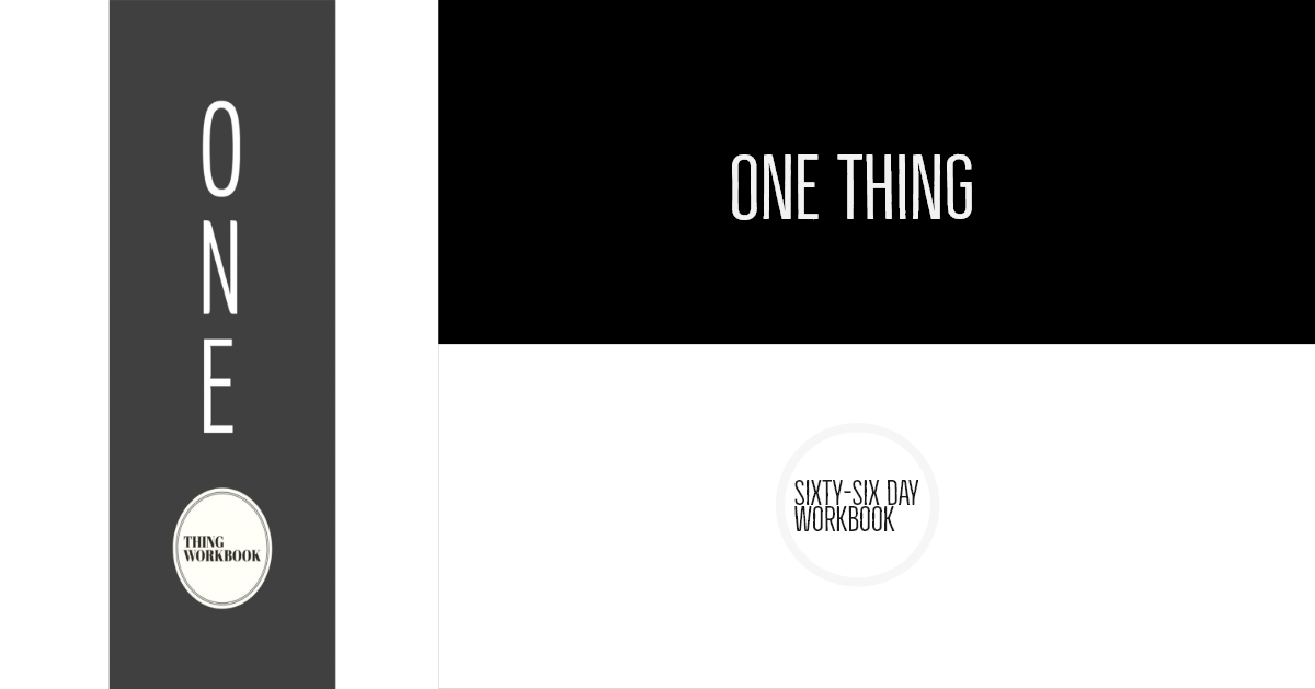 New Video One Thing Workbook.  When you become fully self-aware of these five mysteries you will have found - and be fully living your One Thing.