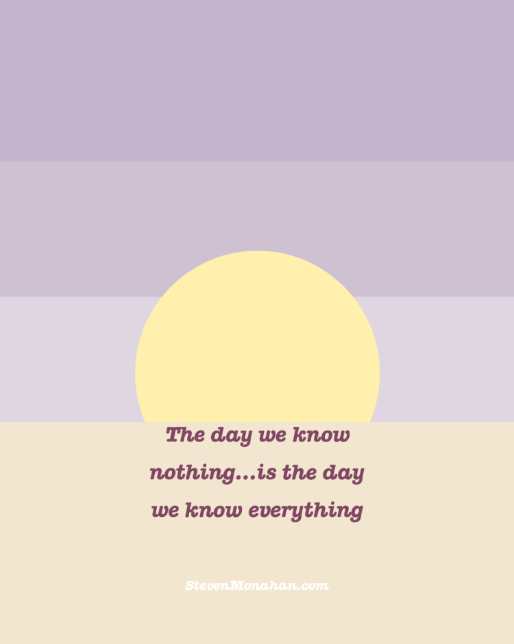 Know Zen and Know Nothing. jungian coaching