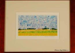 America's Heartland Framed mini by Steven Ray Miller Durham NC artist