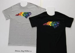 T-shirts with NC Hearts by Steven Ray Miller Durham NC artist