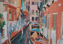 Small View of Venice limited edition lithograph by Steven Ray Miller Durham NC artist