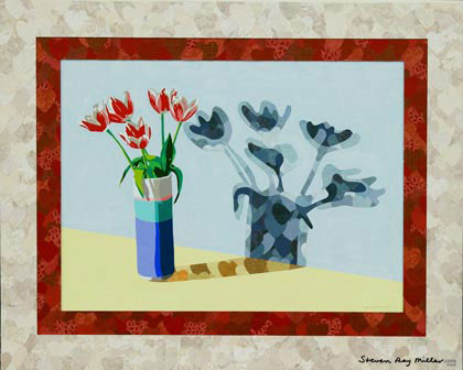 Valentine tulips limited edition giclee on canvas by Steven Ray Miller Durham NC artist