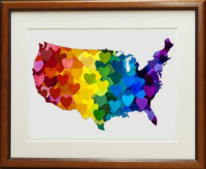 web framed United Hearts of America