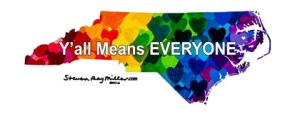 Y'all Means EVERYONE NC Hearts Bumper Sticker
