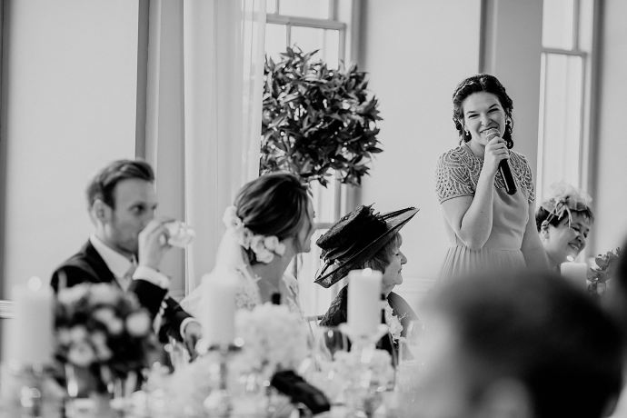 toasts and speeches in the orangery