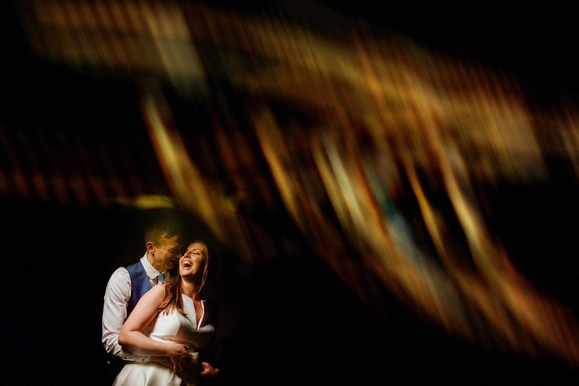 wedding portrait in northumberland, barn venue