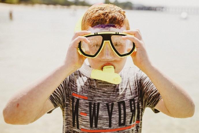 ben with snorkel to go to phi phi