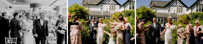 confettin throwing, recessional