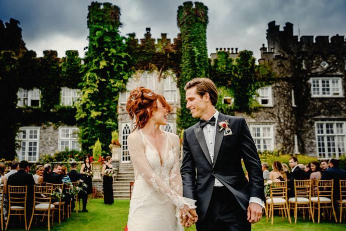 holding hands after wedding