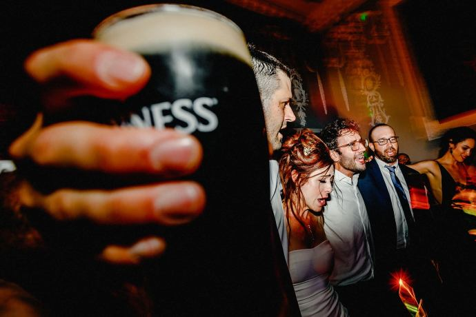 pint of guinness, in a dancing photo