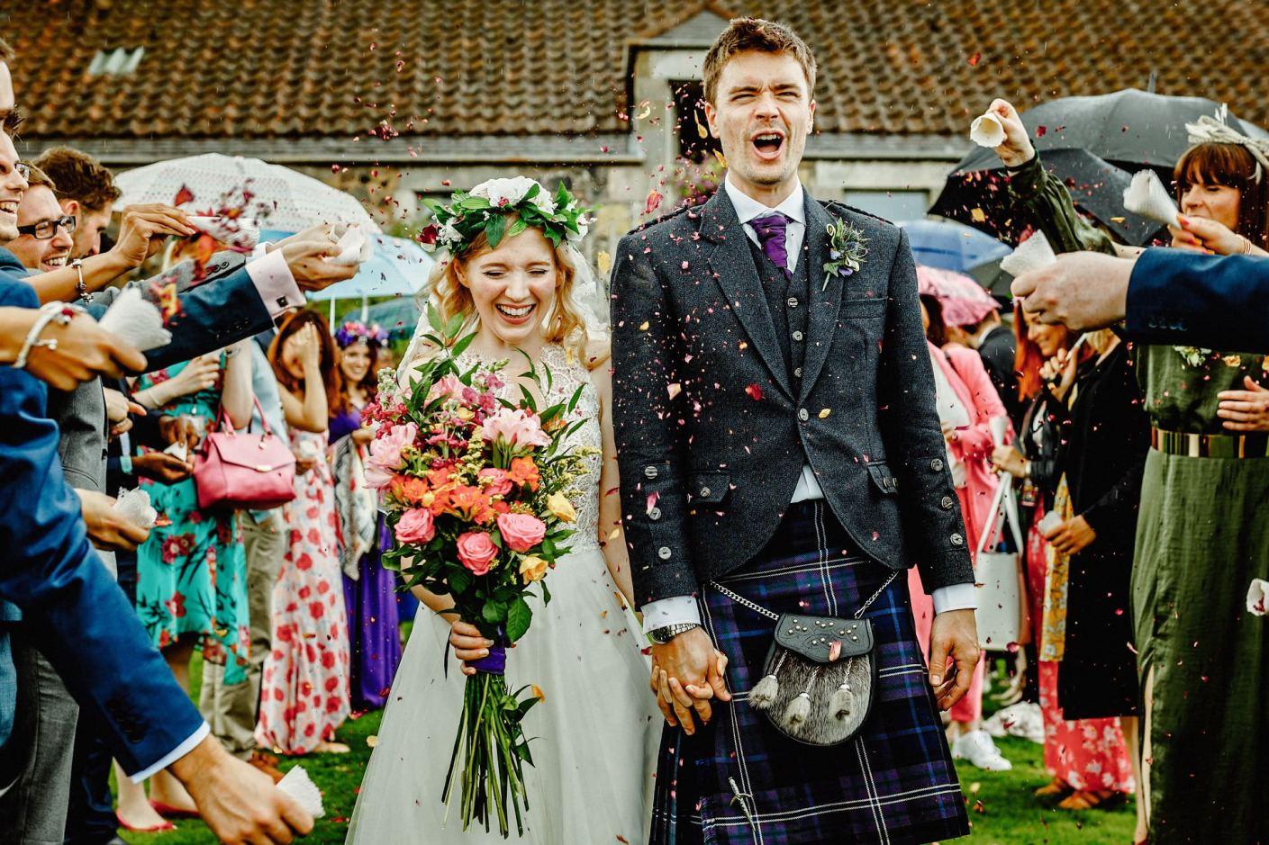 wedding at kilrie granary in fife, scotland