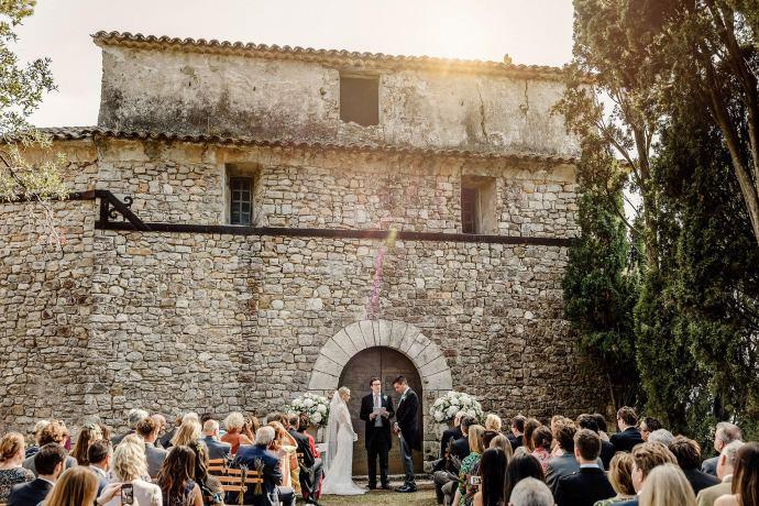 beautiful wedding setting, chateau de castellaras, humanist wedding