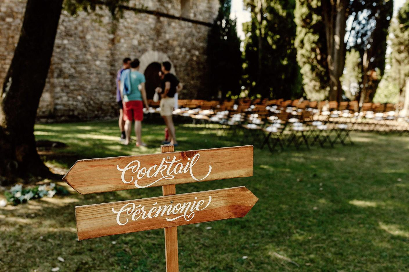 wedding set up in the south of france