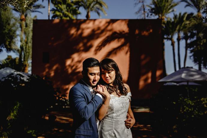 bride and groom portrai
