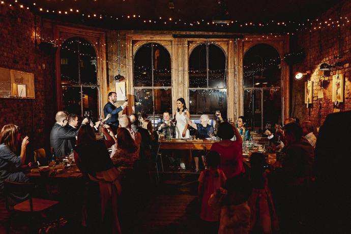 bride's speech, pub wedding