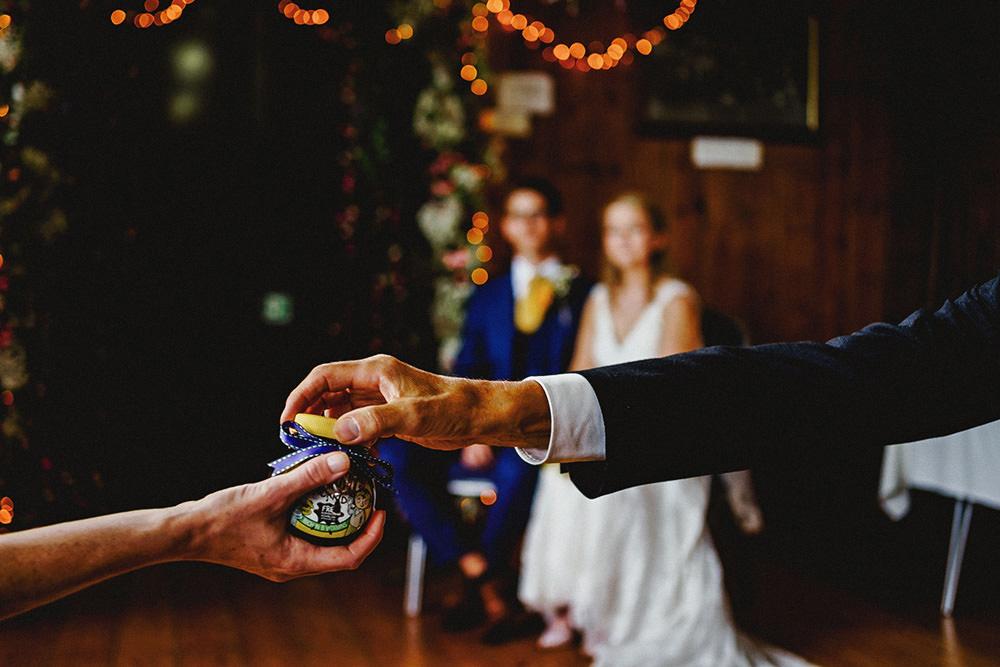 passing aroud the wedding rings