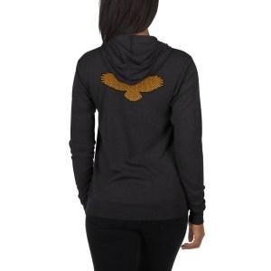 Hawk Logo – Unisex zip hoodie
