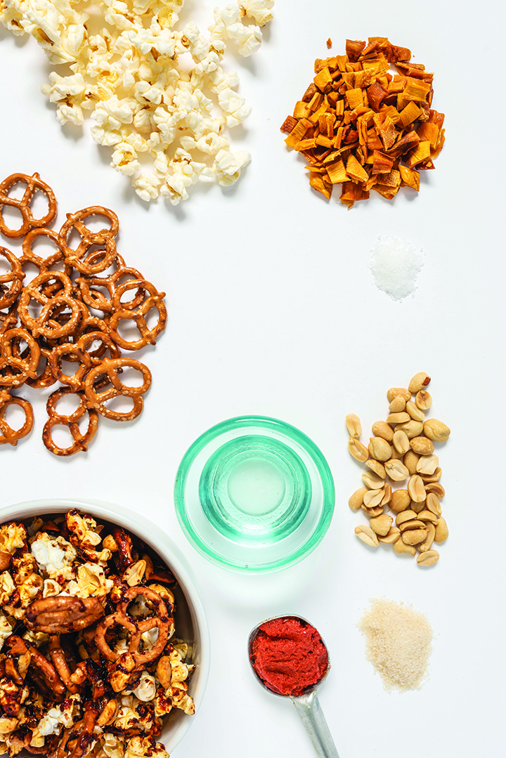 Thai Curry Mango Peanut Snack Mix