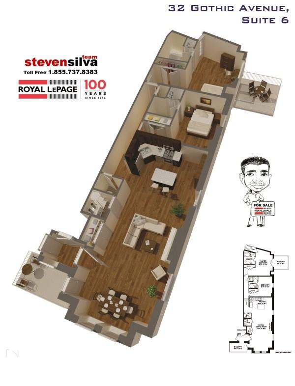 32 Gothic Avenue Unit 6 3D Plan