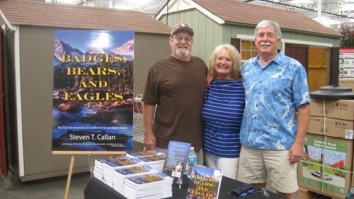 Author Steven T. Callan with Larry Howard and Glenys Anderson