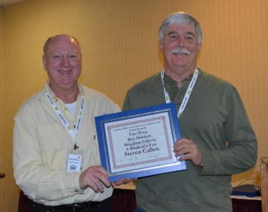 Steven T. Callan receiving OWAC award