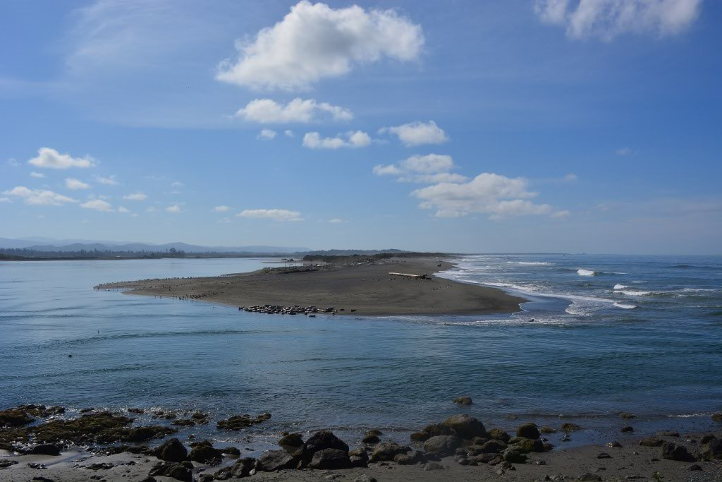 The mouth of the Smith River, California