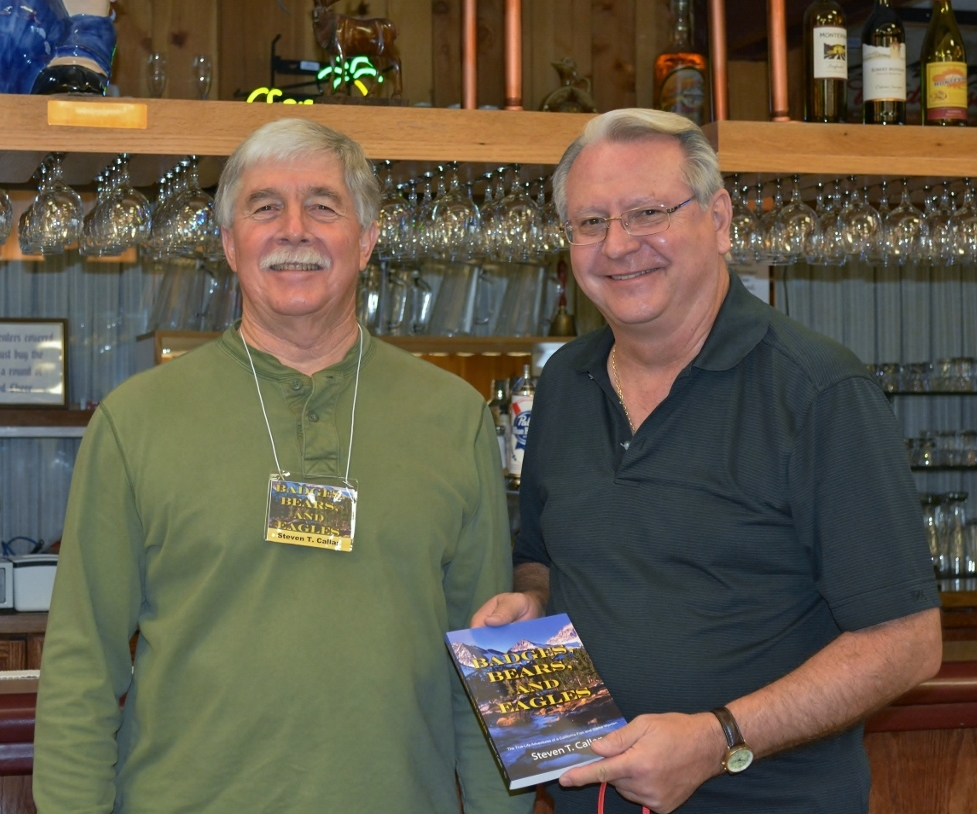 Steven T. Callan with Jim Petruk, president of the Rooster Tails Fishing Club of Northern California