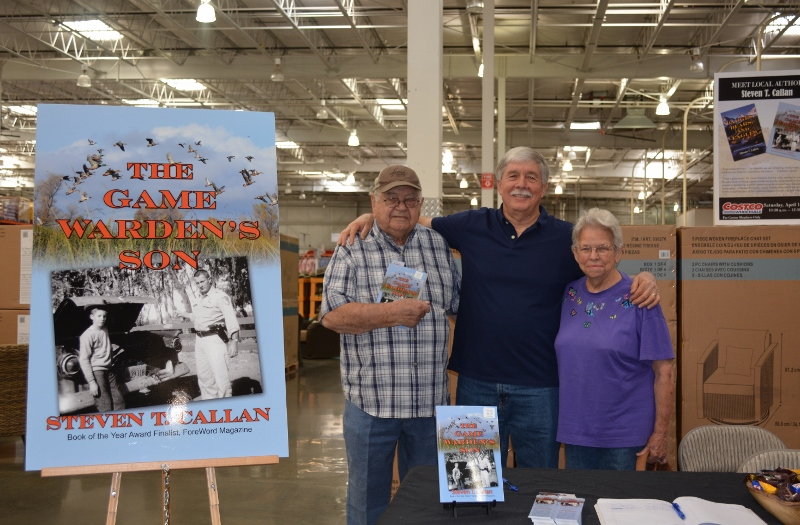 Author Steven T. Callan and Friends at the Chico Costco Book Signing for The Game Warden's Son