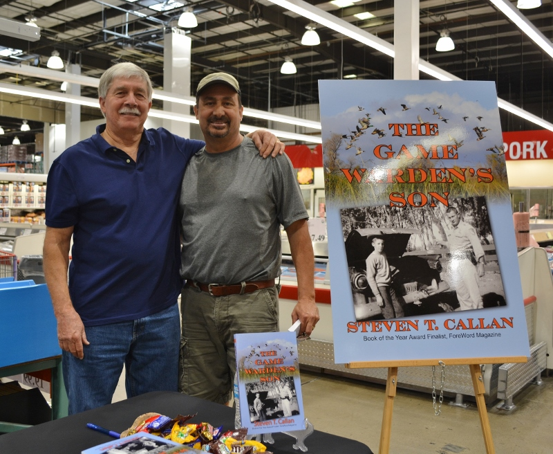 Author Steven T. Callan and Friend at Redding Costco Book Signing for THE GAME WARDEN'S SON