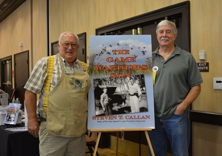Chester Wilcox and Author Steven T. Callan at the Pacific Flyway Decoy Association Wildfowl Art Festival