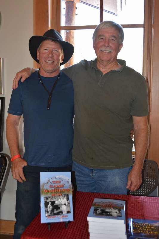 Author Steven T. Callan and Friend at Book Signing during Art and Wine Festival at Lassen Volcanic National Park