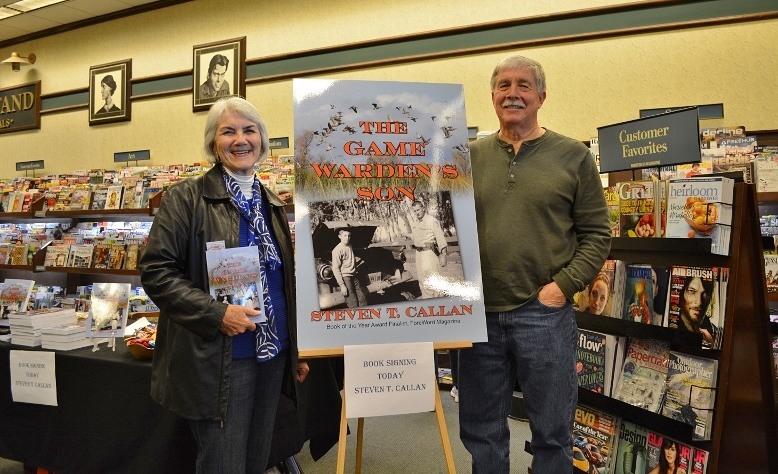 Author Steven T. Callan and friend at Callan's Chico Barnes and Noble Book Signing for The Game Warden's Son