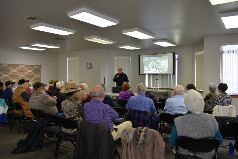 Author Steven T. Callan speaks to members of Redding Writers Forum about his book The Game Warden's Son.